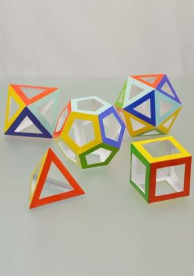 The models of regular polyhedra