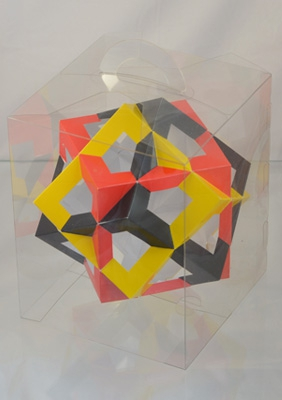"Model ""Compound of three cubes"""