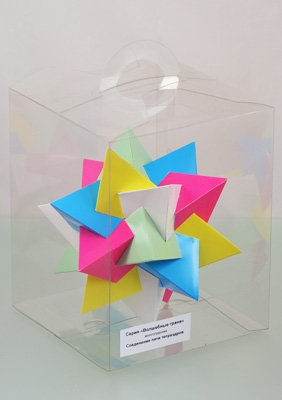 "Model ""Compound of five tetrahedra"""
