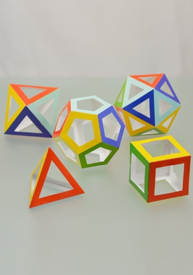 The models of regular polyhedra