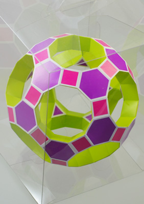 "Model ""Truncated icosidodecahedron toroid"""