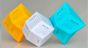 calendar Rhombic dodecahedron