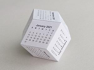 Rhombic dodecahedron 3D Calendar - Polyhedr.com