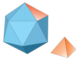 Divide the icosahedron