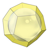 radius of an inscribed sphere of dodecahedron