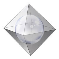 2 radius of an inscribed sphere of octahedron