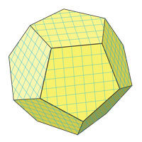 surface area of dodecahedron