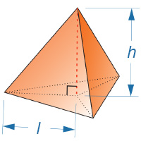 Tetrahedron height