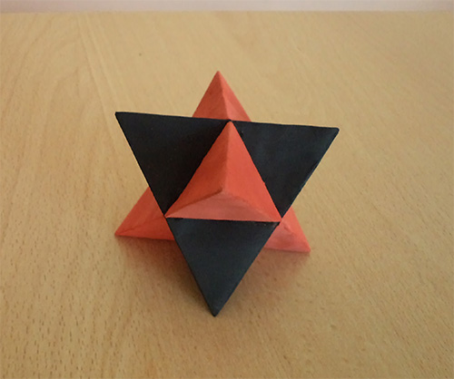 Compound of two tetrahedra