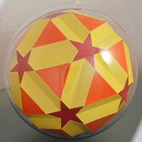 Small icosicosidodecahedron inside the sphere