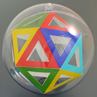 isosahedron inside the sphere
