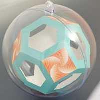 Truncated octahedron inside the sphere