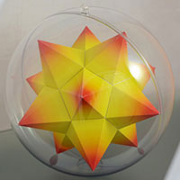 Small stellated dodecahedron inside the sphere