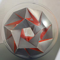 stellated isosahedron inside the sphere