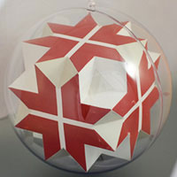 Great octahedron inside the sphere