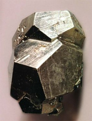 Pyrite crystal dodecahedron