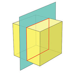 cube section by plane