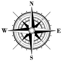 Eight pointed star on the wind rose