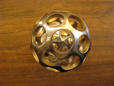 icosahedron inside the metal ball