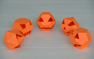 Pumpkin polyhedra collection