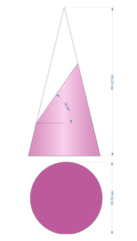 cone cross section ellipse