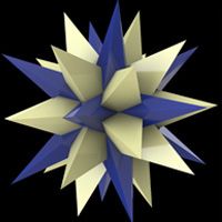 Thirteenth stellation of icosidodecahedron