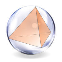 The tetrahedron placed in a sphere