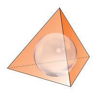 The sphere inscribed inside the tetrahedron