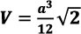formula The volume of the tetrahedron