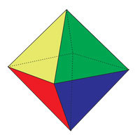 octahedron four colors