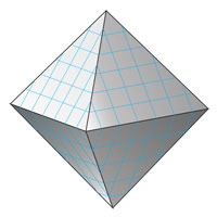 The surface area of the octahedron