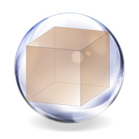 cube placed in a sphere
