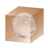 The sphere can be inscribed inside the cube