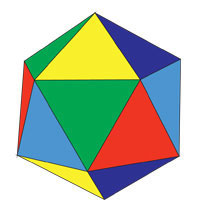 icosahedron five colors