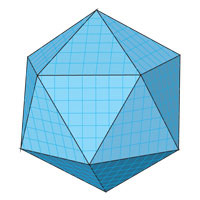 The surface area of the icosahedron