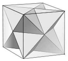 stellated octahedron inscribed in a cube