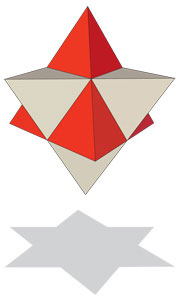 shadow stellated octahedron