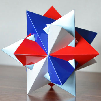 Compound of four tetrahedra