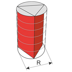 triangular prism inscribed in the cylinder