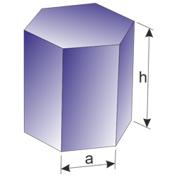 dimensions of the hexagonal prism