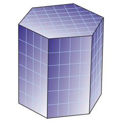 hexagonal prism surface area