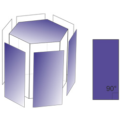 lateral sides of a hexagonal prism