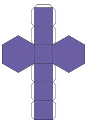 net Regular hexagonal prism