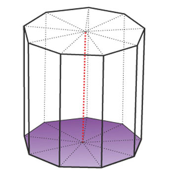 Regular ninth-angle prism