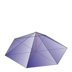Regular hexagonal pyramid