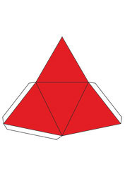 net Regular triangular pyramid