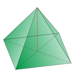 Regular quadrangular pyramid