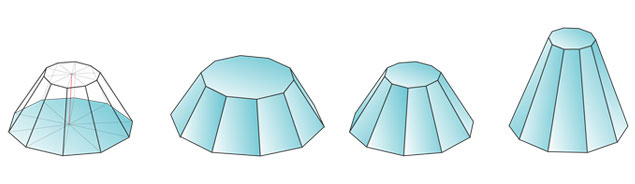 truncated decagonal pyramid 10 2