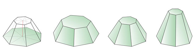 truncated heptagonal pyramid 7 2