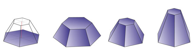 truncated hexagonal pyramid 6 2